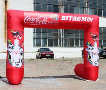 Пневмостенд Арка Кока-Кола Поздравляем