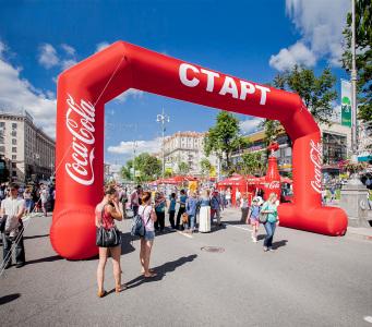 Пневмостенд Арка Кока-Кола Старт