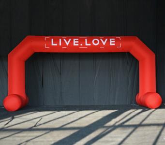 Пневмостенд Арка live love, 5х10