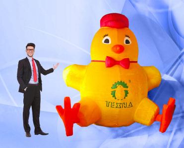 Пневмоконструкция Цыпленок, мех