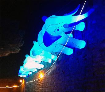Надувные фигуры Слоны с подсветкой