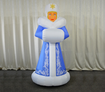 Пневмостенд Снігуронька зі зіркою, 2.2м.