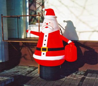 Пневмостенд Санта с красным мешком