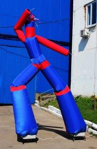 Аэромен Шахматка синяя, 5м